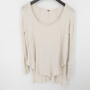 Free People Ventura Raglan Thermal High Low Top S